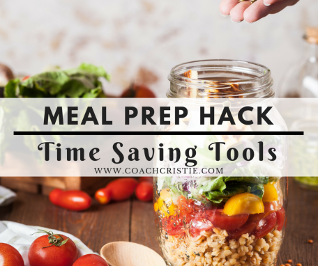 Easy meal prep ideas and healthy meals for busy women! Check out my latest meal prep hack: meal prep tools! Make meal prepping fast and easy! Find out how to lose weight and meal prep on a busy schedule at my blog www.coachcristie.com!